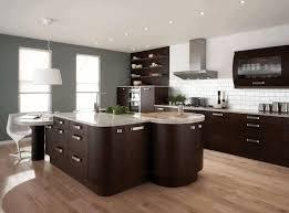 kitchen floor ideas with dark cabinets glass front upper cabinet