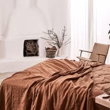 100 linen sheet set in tobacco u2014 in bed store