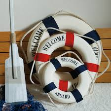 Home Decor Nautical Navy Style Lifebuoy Home Decor Nautical Welcome Aboard Decorative