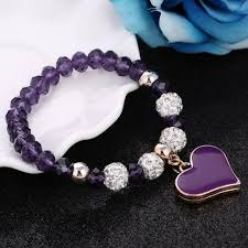 bracelet elastic heart images Elastic heart bracelet my side joy jpg