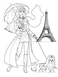fashion coloring pages teenager coloring