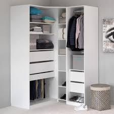 armoire angle chambre méo armoire de rangement en angle blanc achat vente armoire de