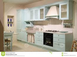 country style cyan kitchen stock photo image 33808220