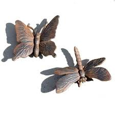 buy cast iron butterfly dragonfly garden ornament set from our