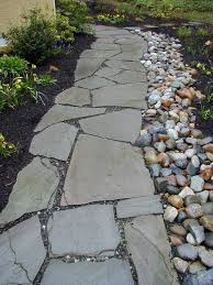rocks in garden design with river rock landscaping beautiful ideas