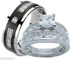wedding ring sets cheap his and hers wedding ring sets