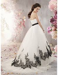black and white wedding dresses wedding gowns u003e strapless gowns