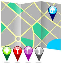 map with labels city map with labels royalty free vector image