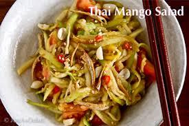 thai mango salad justasdelish com