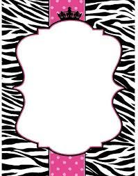 Blank Invitations Zebra Blank Invitations
