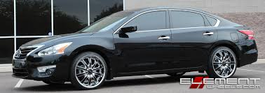 Nissan Altima Specs - 20 inch helo he875 chrome with gloss black accents on 2015 nissan