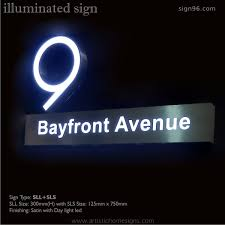 house number light box illuminated house number address signs laser cut out 304 satin