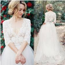 Hippie Wedding Dresses Aliexpress Com Buy Bohemian Hippie Wedding Dresses 2017 Beach