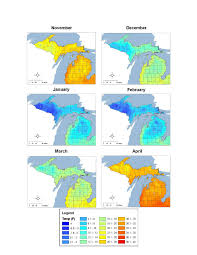 Map Of Northern Michigan by Habitat And Behavior Of Wintering Deer In Northern Michigan A