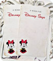 birthday wish tree personalized minnie mouse wish cards 12 baby shower wish