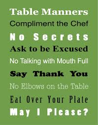 table manners for kids printable basic table manners free printable true aim