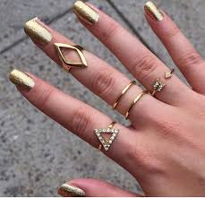 new rings style images Women fancy rings new style summer metal gold platred geometry jpg