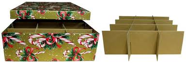 Box Ornament Single Layer Ornament Storage Box