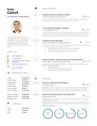 Example One Page Resume Resume One Page One Page Resume 25 Infographic Resume