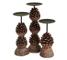 christmas pine cones candle holders christmas wikii