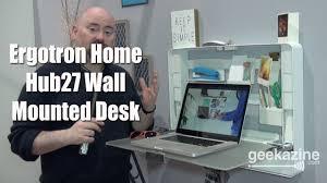 ergotron home hub27 wall mounted standing desk youtube