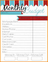 Monthly Bills Spreadsheet 2 Monthly Budget Printables Monthly Bills Template
