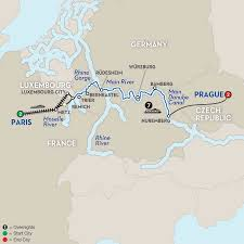 Map Of Germany With Cities And Towns In English by Paris To Prague River Cruise Avalon River Cruises