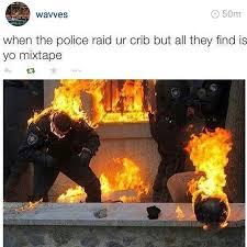 Fire Meme - check out my mixtape know your meme
