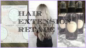 Sarahs Hair Extensions by Retaping Hair Extensions Secrets U0026 Tip U0027s Jz Styles Hair Youtube