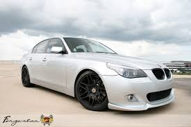 bmw e60 545 bmw e60 545i with 19 forgestar f14 finished in hyper black