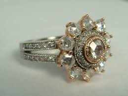 vintage style engagement rings i wish i could see this in person kind of exotic rose cut