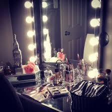 Bedroom Vanities With Mirrors by Vanity Mirror With Light Bulbs Around It Also Bedroom Vanity With