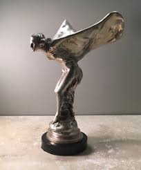 rolls royce silver spirit of ecstasy sculpture replica