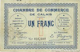 chambre de commerce de calais 1 franc regionalism and miscellaneous calais 1914 jp 036 03