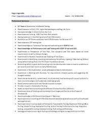 Testing Profile Resume Naga Soa Testing Profile