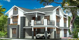 2 Storey Modern House Floor Plan 11 2 Story House Elevation Two House Plans In Kerala Nice Design