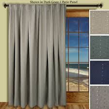 Pinch Pleated Patio Door Drapes by Thermal Patio Panel Ultimate Blackout Patio Door Curtain Panel