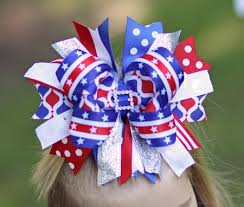 fourth of july hair bows miss minnie mouse 4th of july blinged out pettiskirt set