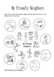 my friendly neighbors my community pinterest worksheets