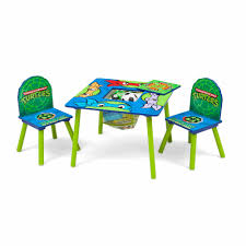 Outdoor Childrens Table And Chairs Nickelodeon Teenage Mutant Ninja Turtles Table And Chair Set With