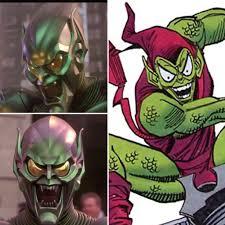 in raimi u0027s spider man trilogy green goblins mask has a purple