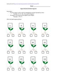 square roots u0026 perfect squares worksheet by historyteach27 tpt