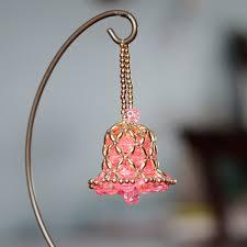6 beautiful vintage decorations korálkové zvonečky