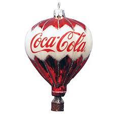 kurt adler coca cola glass balloon ornament 3 5 inch