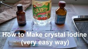 how to make crystal iodine very easy way youtube
