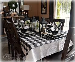 buffalo plaid table runner dining delight black lanterns buffalo check tablescape