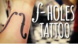 violin tattoo designs violin f holes tattoo youtube