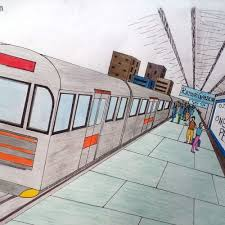 two point perspective drawing illustration with example artxplorez