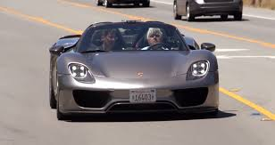 porsche supercar 918 jay leno drives the porsche 918 spyder autoevolution
