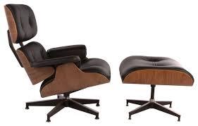 Mid Century Modern Armchairs Classic Midcentury Modern Italian Leather Lounge Chair And Ottoman